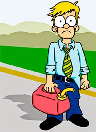 Image result for run out of petrol clipart